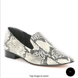 Schutz leather snake flats